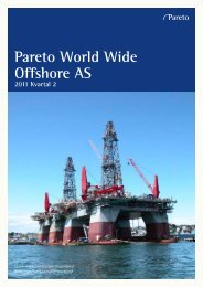 Pareto World Wide Offshore AS - Pareto Project Finance