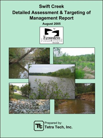 Swift Creek Detailed Assessment & Targeting of Management Report