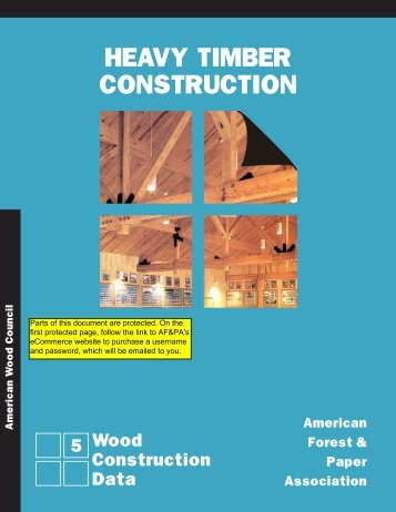 Heavy Timber Construction WCD5 - American Wood Council