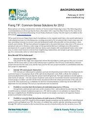 Backgrounder - Iowa Fiscal Partnership