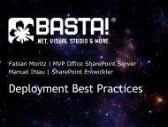 Fabian Moritz, Manuel Ihlau - Deployment Best ... - ITaCS Blogs