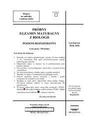 próbny egzamin maturalny z biologii poziom rozszerzony - Gazeta.pl