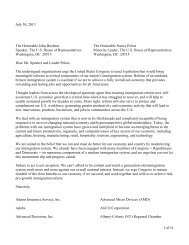 NVCA Signs onto House Letter Supporting Immigration Reform