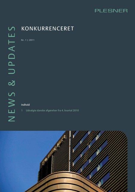 vores News & Updates - Konkurrenceret, nr. 1 2011 - Plesner