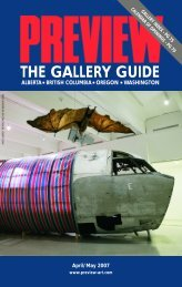 Preview – The Gallery Guide – April-May 2007