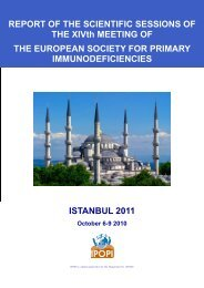 ISTANBUL 2011 REPORT OF THE SCIENTIFIC SESSIONS ... - Ipopi