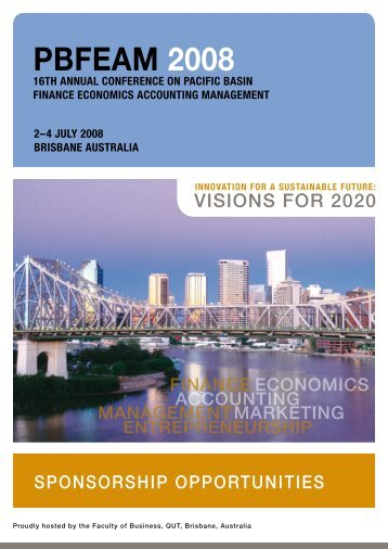 brochure - The 16th Annual Conference on PBFEAM - QUT