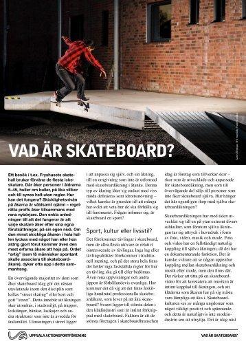 Vad är skateboard?