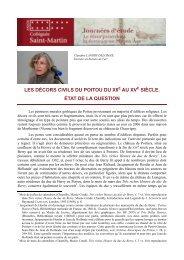 Les décors civils du Poitou : entre profane et sacré