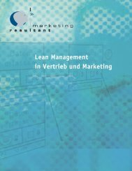 Lean Management in Vertrieb und Marketing - Marketing Resultant ...