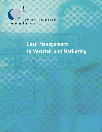 Lean Management in Vertrieb und Marketing - Marketing Resultant ...