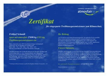 Zertifikat - Aktuelles - Frithjof Schmidt