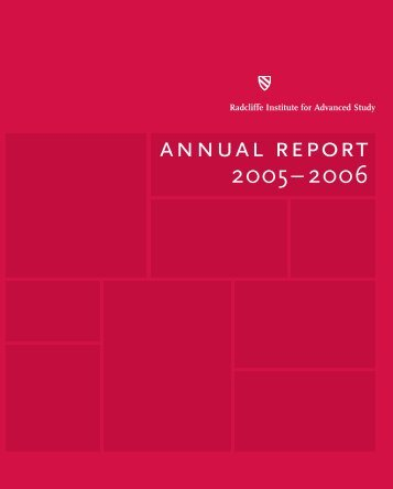 Download PDF Version - Radcliffe Institute for Advanced Study