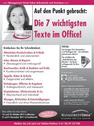 Die 7 wichtigsten Texte im Office - Management Circle AG