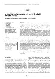 La sindrome di Asperger nei pazienti adulti: un caso clinico