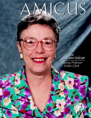 AMICUS Vol. 1, No. 2 (Fall 2002) - Roger Williams University School ...