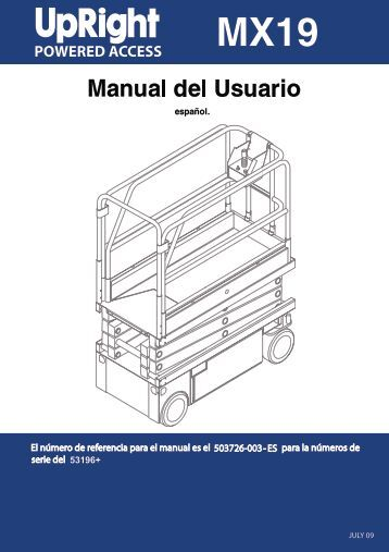 Upright mx19 manual on