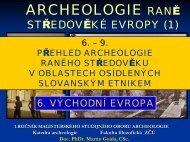 přednáška 6-7 - Katedra archeologie