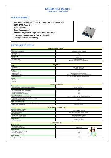 SAGEM HiLo Module - Dachs