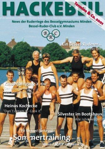 Silvester 2000/2001 - Bessel-Ruder-Club eV Minden