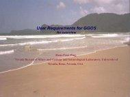 User Requirements - Nevada Geodetic Laboratory - University of ...