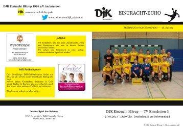 findet Ihr die Ausgabe vom 25. Spieltag. - DJK Eintracht Hiltrup
