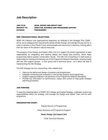 job description wwf uk practice director job description - Practice Director Job Description