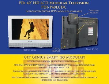 "PDi 40"" HD LCD Modular Television PDI-P40LCDC - Pdiarm.com"