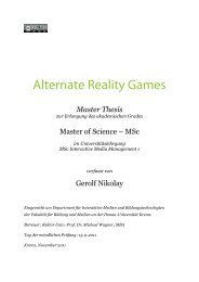 Master Thesis - GMF-Productions