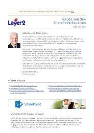 Layer2 Newsletter - Ausgabe 3 - Layer 2 GmbH