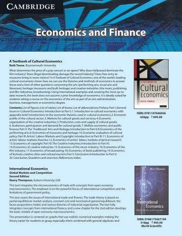 Economics & Finance.cdr - Cambridge University Press India