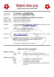 TŘEBOŇ OPEN 2012 - Český svaz Taekwon-Do ITF