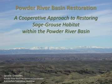15. Powder River Basin Restoration Sage-Grouse Habitat