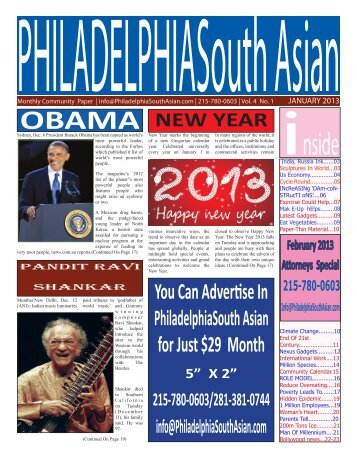 Jan 2013 - Philadelphia South Asian