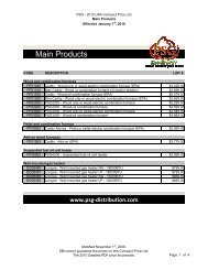 psg usa 2010 price list - Hearth Products Distributing
