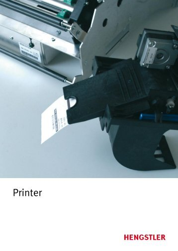 new printer catalogue - overview - Hengstler Encoders
