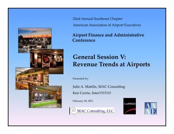 General Session V: Revenue Trends at Airports - InterVISTAS