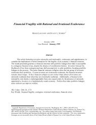 Financial Fragility with Rational and Irrational Exuberance
