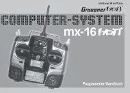 Programmier-Handbuch MX-16 HoTT Computerfernsteuerung