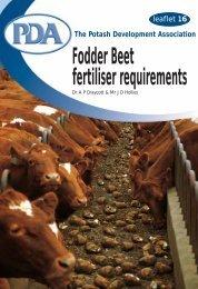 Fodder Beet -Fertiliser Requirements - Potash Development ...