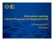 Call for Proposals for Rogowski Coils - Iter Industry