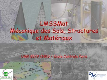LMSSMat Mécanique des Sols, Structures et Matériaux - IM2NP
