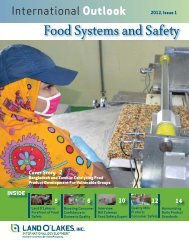 Food Systems and Safety, page 2 - Land O'Lakes Inc.