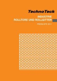 Industrie Rolltor - TechnoTeck