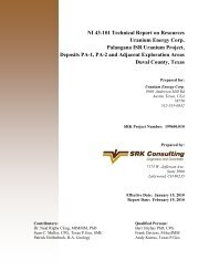 NI 43-101 Technical Report on Resources Uranium Energy Corp ...