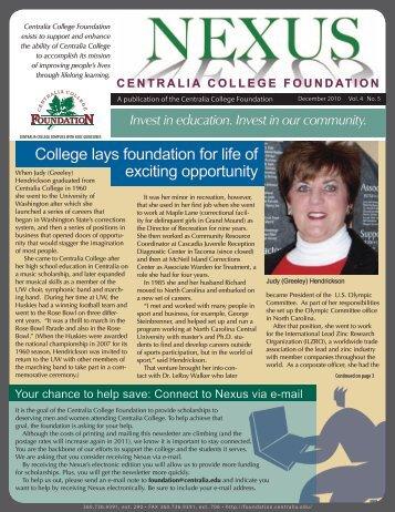 December 2010 - Centralia College Foundation