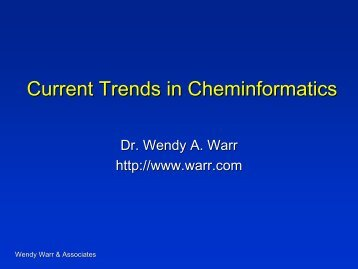 Current Trends in Cheminformatics