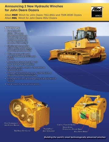 Announcing 2 New Hydraulic Winches for John Deere Dozers