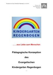 Pädagogische Konzeption des Kindergartens Regenbogen