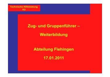 Rettungstechniken - Freiwillige Feuerwehr Oberderdingen